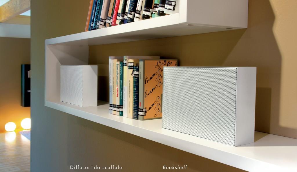 Diffusore acustico da scaffale o libreria