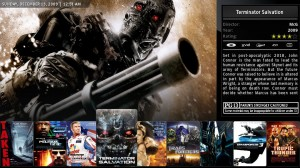 Visualizzazione dei film in modalità estesa del media center per home theatre