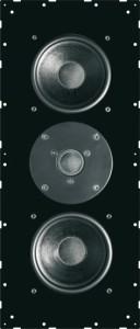 sim316_viste_1 Плоские акустические колонки с пассивным радиатором вид спереди