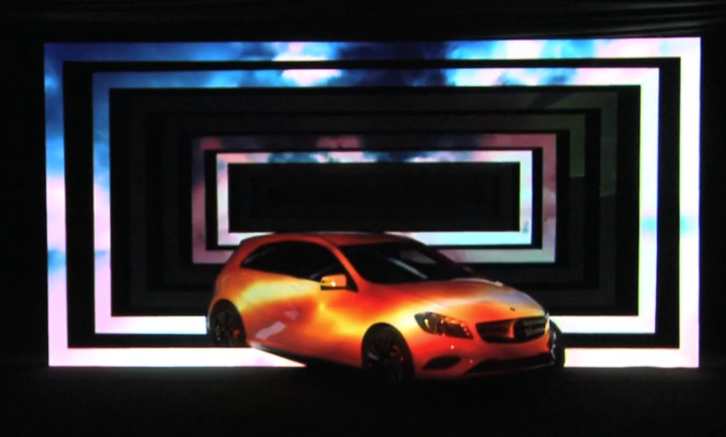 Video Mapping 3D Mercedes Classe A