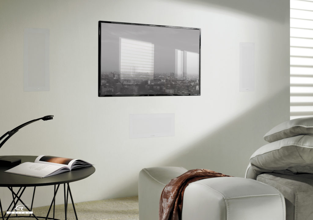 configurazione diffusori frontali incasso filomuro per home cinema