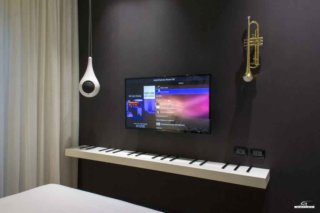 Goccia Garvan installata per sistemi audio in Hotel presso suite Tono Hotel Litoraneo